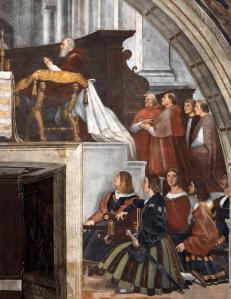 The Mass at Bolsena (detail)