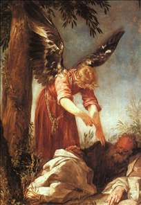 An Angel Awakens the Prophet Elijah