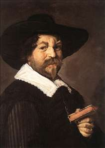 Portrait of a Man Holding a Book