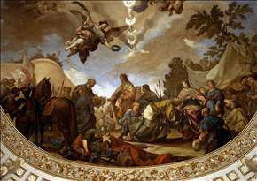 Ceiling fresco (detail)