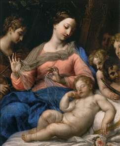 The Sleep of the Infant Jesus, with Musician Angels