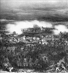 Waterloo, The Retreat of the Holy Battallion, June 18, 1815
