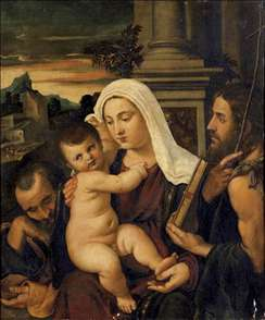 Madonna and Child with Sts Joseph and John the Baptist