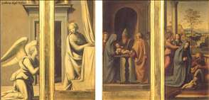 The Annunciation (front), Circumcision and Nativity (back)