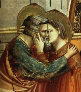 No. 6 Scenes from the Life of Joachim: 6. Meeting at the Golden Gate, detail