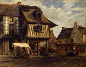 Market-Place in Normandy