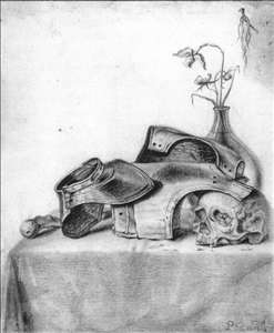 Vanitas Still-Life with Gorget and Cuirass