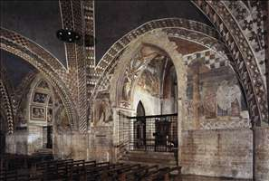 View of the nave of the Lower Church