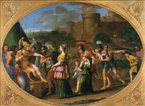 Timoclea Captive Brought before Alexander