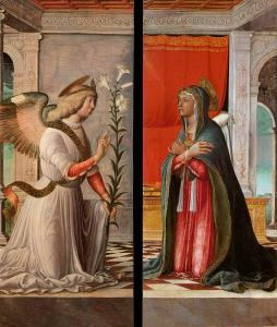 The Archangel Gabriel and the Virgin Annunciate
