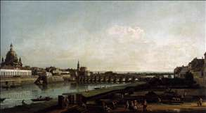 Dresden from the Right Bank of the Elbe, above the Augustusbr�cke