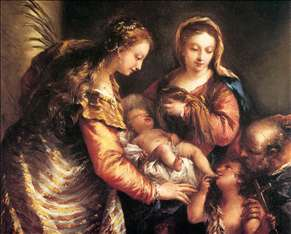 Holy Family with St John the Baptist and St Catherine