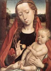 Virgin with the Child Reaching for his Toe
