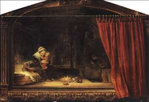 The Holy Family with a Curtain