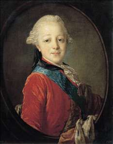 Portrait of Emperor Paul I as a Child