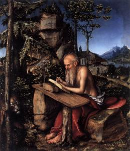 St Jerome Writing in a Landscape