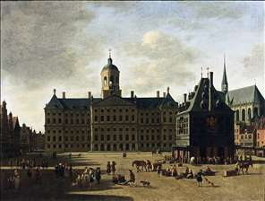 Amsterdam: View of the Dam with the Town Hall