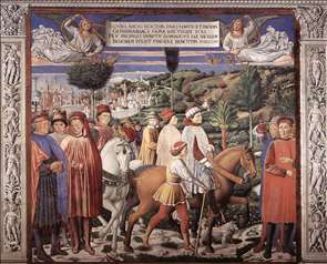 St Augustine Departing for Milan (scene 7, south wall)