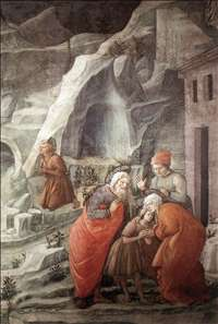 St John Taking Leave of his Parents