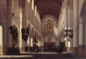 Interior of the St Bavo in Haarlem