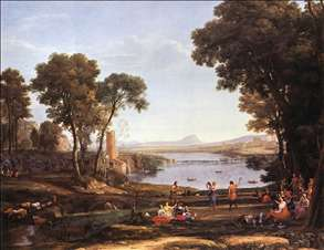 Landscape with Dancing Figures