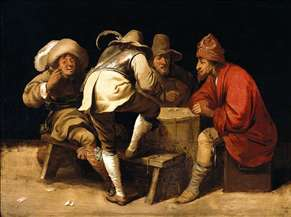 Soldiers Gambling with Dice