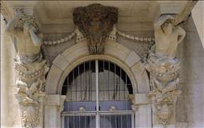 Door of the H�tel de Ville at Toulon