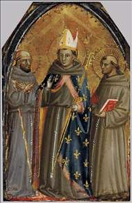 Sts Francis of Assisi, Louis of Toulouse and Anthony of Padua
