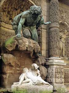 Polyphemus Surprising Acis and Galatea - Auguste Ottin Gallery ...