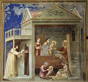 No. 7 Scenes from the Life of the Virgin: 1. The Birth of the Virgin