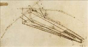Drawing of a flying machine