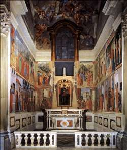 View of the Cappella Brancacci (after restoration)