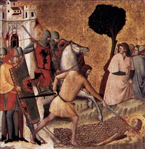 Scenes from the Life of St Colomba: Beheading of St Colomba