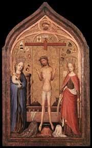 The Man of Sorrow with the Virgin and St Catherine