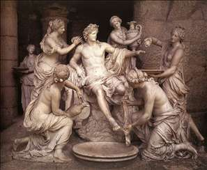 Apollon and the Nymphs