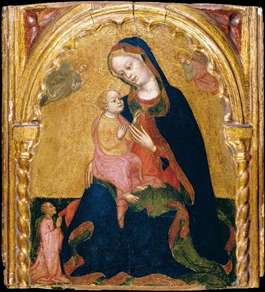 Madonna of Humility with a Donor and Angels