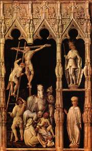 Crucifixion, detail from right side