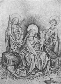 Virgin and Child with Sts Barbara and Dorothea