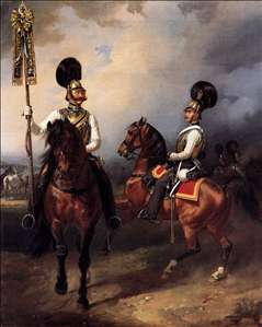 Two Cuirassiers from the Regiment of Czar Nicholas I
