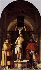 St Sebastian with St Roch and St Lawrence