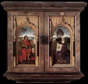 Triptych of Jan Floreins (reverse)