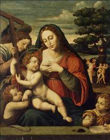 Virgin and the Child with Sts John the Baptist and John the Evangelist