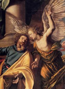 St Matthew and the Angel (detail)
