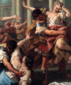 The Rape of the Sabine Women (detail)