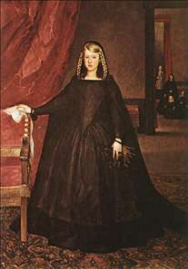 The Empress Doña Margarita de Austria in Mourning Dress
