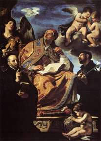 St Gregory the Great with Sts Ignatius and Francis Xavier