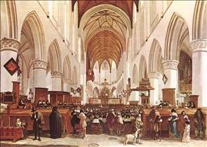 The Interior of the Grote Kerk (St Bavo) at Haarlem