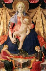Madonna of Humility with Two Musician Angels