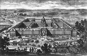 View and Perspective of the Hôtel de Mars (Les Invalides)
