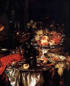 Banquet Still-Life with a Mouse (detail)